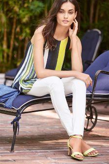White Premium Modal Skinny Jeans