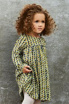 Geo Print Day Dress (3mths-6yrs)