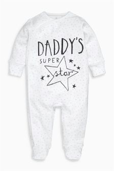 White Daddy Sleepsuit (0-18mths)