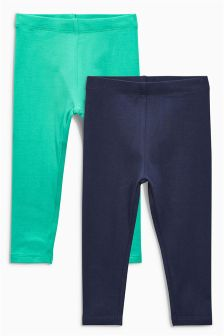 Green/Navy Leggings Two Pack (3mths-6yrs)