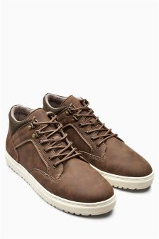 Brown Wax Mid Boot