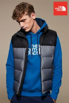 The North Face® Grey/Black Nuptse Gilet