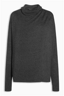 Grey Knit Look Nursing Top