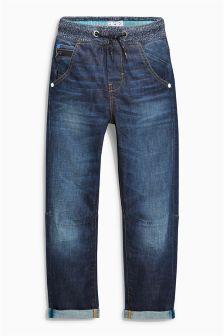 Rib Waist Pull-On Jeans (3-16yrs)