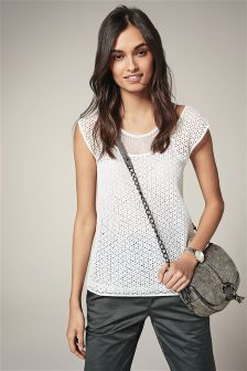 White Lace Layer Tee