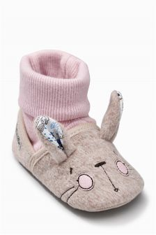 Grey Pram Bunny Socks (Younger Girls)