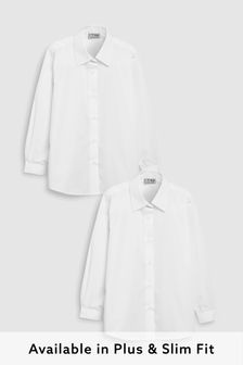 Two Pack White Long Sleeve Formal Blouse (3-16yrs)