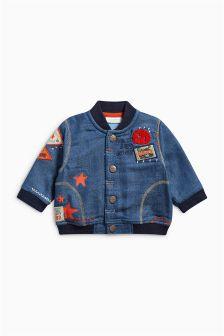 Blue Badged Denim Jacket (0mths-2yrs)