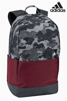 adidas Grey/Burgundy Camo Backpack