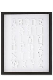 3D Alphabet Framed Picture