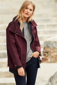 Berry Mock Layer Parka