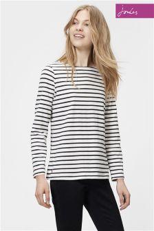 Black/White Joules Black Stripe Harbour Jersey Top