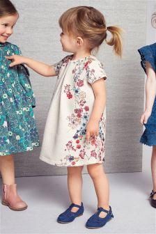 Ecru Print Ponte Dress (3mths-6yrs)