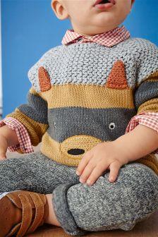 Ginger Fox Knitted Jumper (0mths-2yrs)