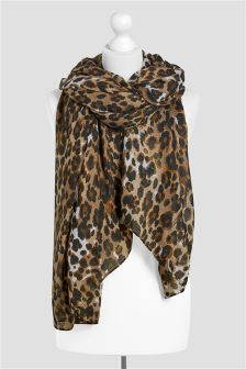 Animal Leopard Print Scarf