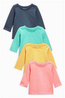 Navy, Pink, Green And Yellow T-Shirts Four Pack (3mths-6yrs)