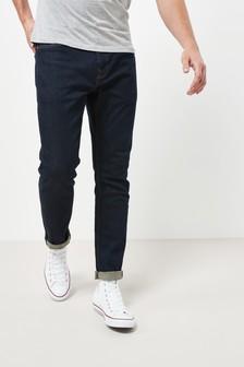 Dark Ink Jeans With Stretch