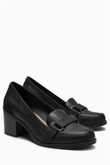 Black Hardware Loafers
