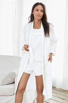 White Texture Robe