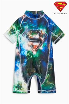 Blue/Green Superman® Sunsafe Suit (3mths-8yrs)