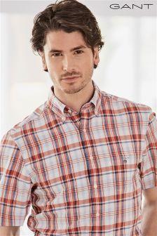 Gant Orange Madras Check Shirt