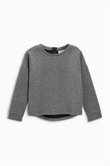 Grey Quilted Crew (3-16yrs)