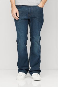 Teal Wash Jeans With Stretch