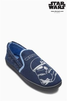 Blue Star Wars™ Slippers (Older Boys)