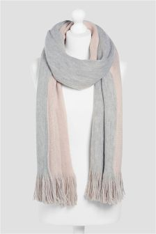 Pink/Grey Double Sided Scarf