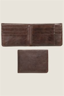Brown Leather Extra Capacity Wallet