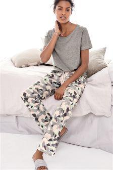 Mint Jersey Geometric Print Pyjamas