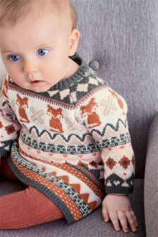 Ecru Fairisle Pattern Dress (0mths-2yrs)