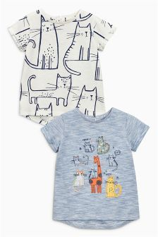 Blue Short Sleeve T-Shirts Two Pack (3mths-6yrs)