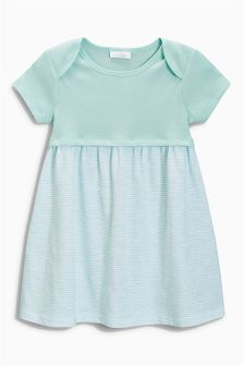 Mint Stripe Jersey Dress (0mths-2yrs)