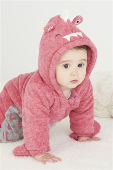 Pink Dinosaur All In One (0mths-2yrs)
