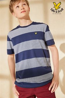 Lyle & Scott Navy/White Stripe Tee