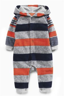 Multi Fleece Stripe Romper (0mths-2yrs)