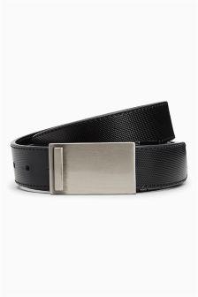 Black Reversible Textured Belt