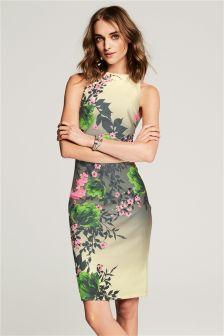 Stone Floral Bodycon Dress