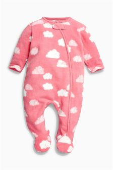 Pink Cloud Fleece Sleepsuit (0mths-3yrs)