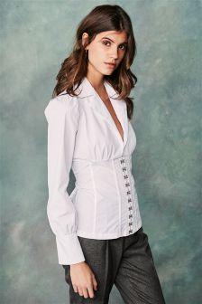 White Corset Shirt