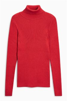 Red Roll Neck Sweater (3-16yrs)