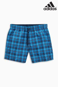 adidas Blue Check Swim Short