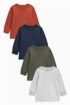 Multi Long Sleeve T-Shirts Four Pack (3mths-6yrs)