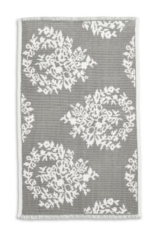 Grey Damask Bath Mat