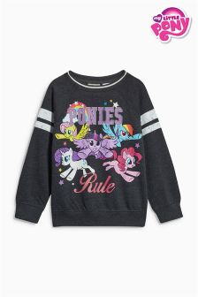 Charcoal My Little Pony Crew Neck Top (3-16yrs)