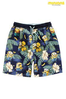 Navy Minions Swim Shorts (3-12yrs)