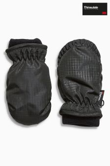 Black Ski Mitts (Younger Boys)