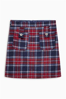 Red/Blue Check A-Line Skirt (3-16yrs)
