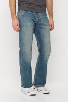 Chalk Wash Jeans With Stretch